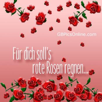 Für dich soll's rote Rosen regnen...