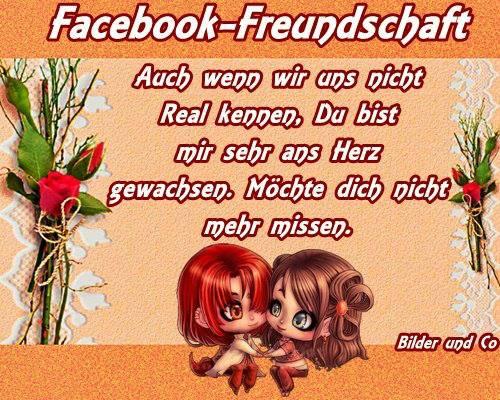 Facebook-Freundschaft. Auch wenn wir uns...