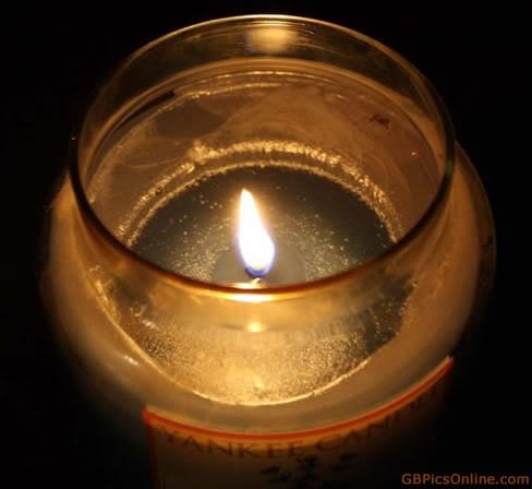 Kerzenlicht im Glas