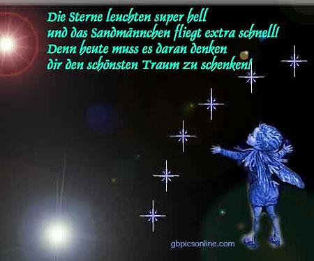 Die Sterne leuchten super hell...