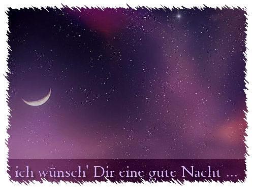 Ich wünsch' Dir eine gute Nacht...