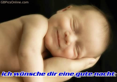 Ich wünsche dir eine gute Nacht.
