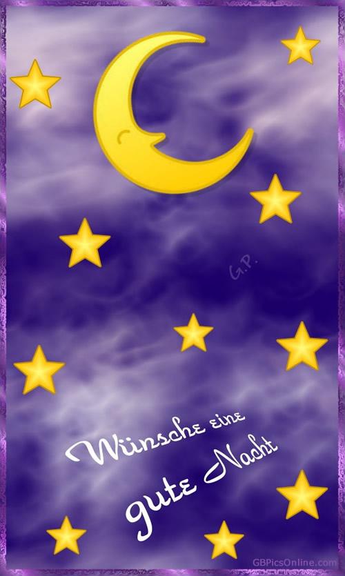 Wünsche eine gute Nacht.