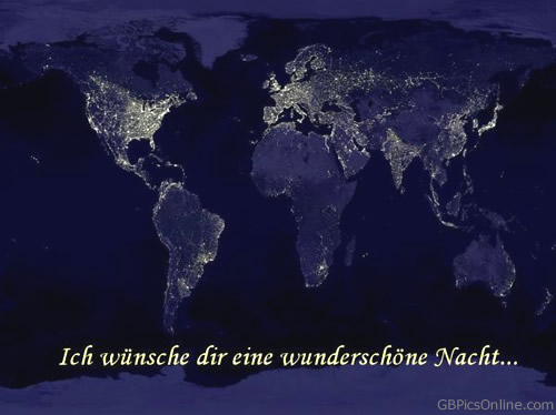 Ich wünsche dir eine wunderschöne Nacht...