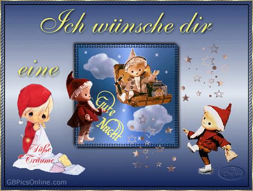 Ich wünsche dir eine gute Nacht. Süße Träume.