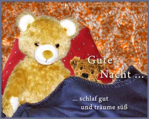 Gute Nacht... schlaf gut und träume süß.