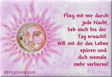 Flieg mit mir durch jede Nacht, lieb mich bis der Tag erwacht! Will mit dir das Leben spüren und dich niemals mehr...