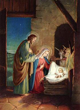 Krippe Weihnachten Gemälde