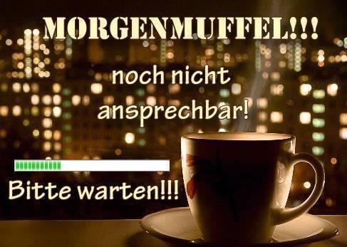 Morgenmuffel!!! Noch nicht...