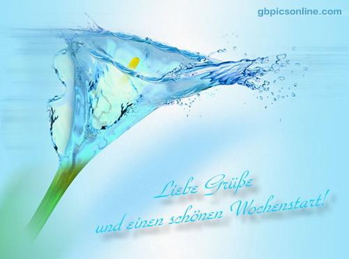 Liebe Grüße und einen schönen Wochenstart!