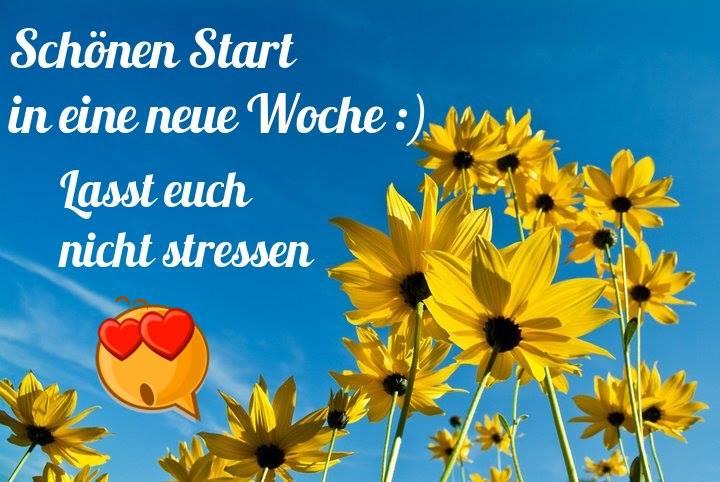 Schönen Start in eine neue Woche :) Lasst euch nicht stressen.