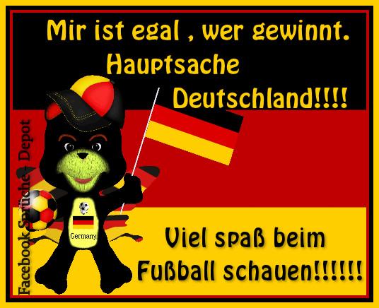 Mir ist egal, wer gewinnt. Hauptsache Deutschland!