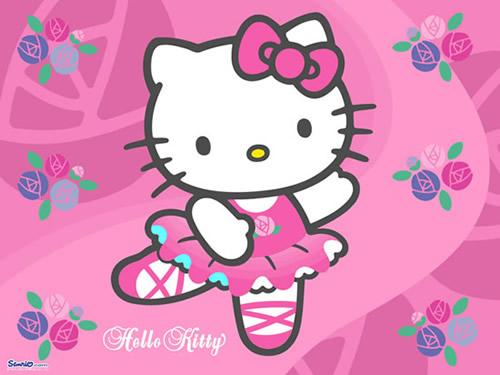 "Tanzende ""Hello Kitty"" in Balerina-Outfit"