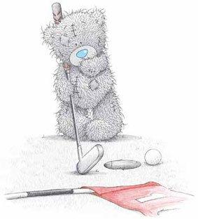 Teddybär haut die Fahne...