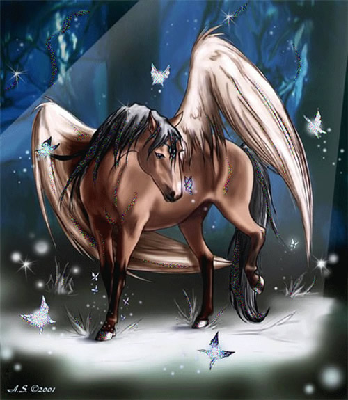 Pegasus im Kreise des Mondlichts