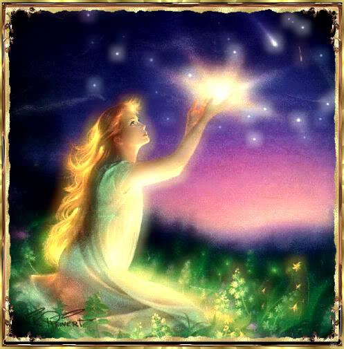 Prinzessin empfängt das Licht
