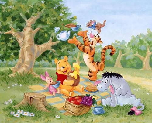 Lustiges Picknick mit Puuh und seinen Freunden