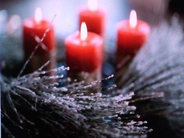 Atmosphärisches Kerzenlicht