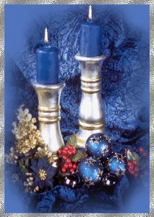Edle Kerzen in Blau