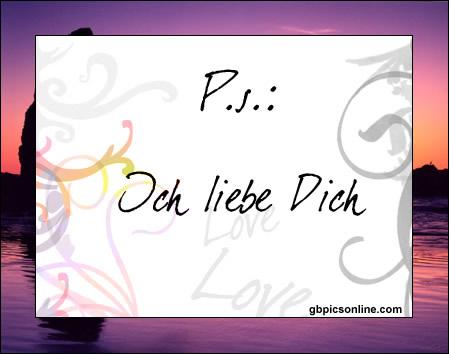 P.S.: Ich liebe Dich