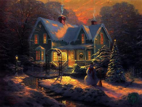 Weihnachtslandschaft bild