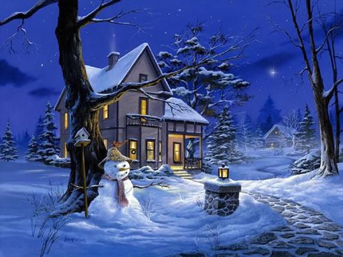 Weihnachtslandschaft bild 5