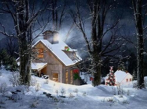 Weihnachtslandschaft bild 8