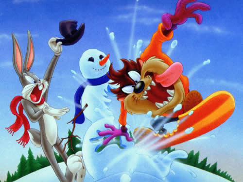 Die Looney Tunes haben Spaß im Schnee