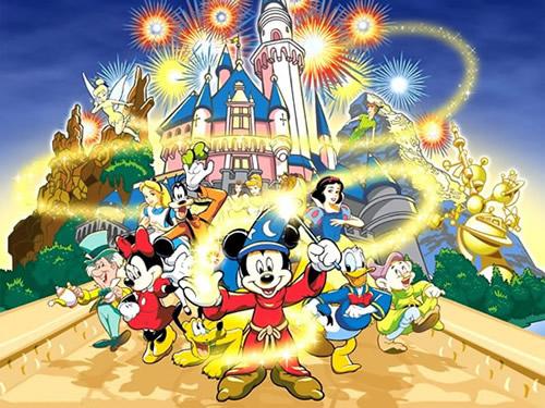 Disney-Magie vor dem Schloss