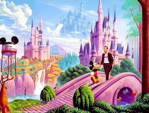 Ein Spaziergang mit Micky Maus