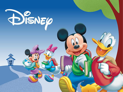 Die Disney-Crew auf dem Weg zur Schule