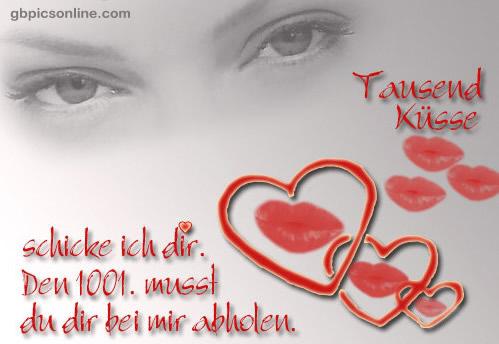Tausend Küsse schicke ich...