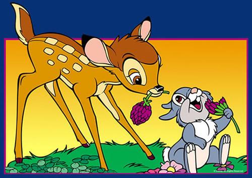 Bambi und Klopfer spielen mit...