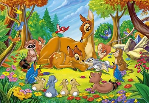 Bambi mit Mutter und Freunden