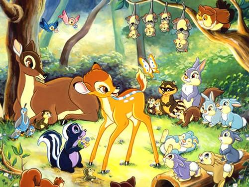 Bambi freut sich über...