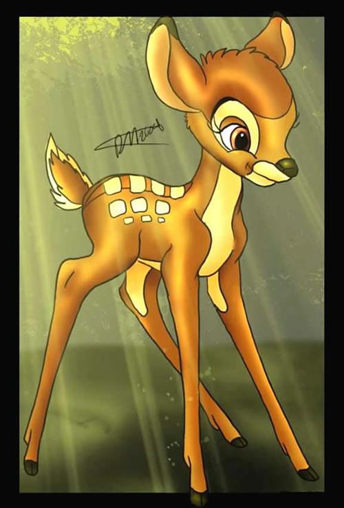 Bambi auf einer Lichtung