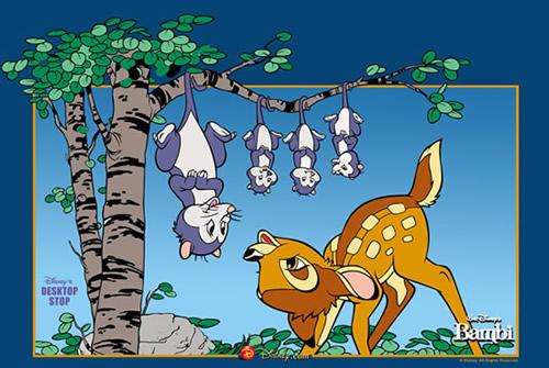 Bambi macht sich einen Spaß mit Mrs...