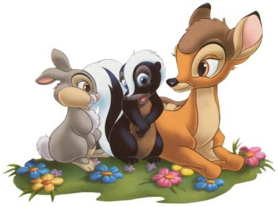 Klopfer, Blume und Bambi