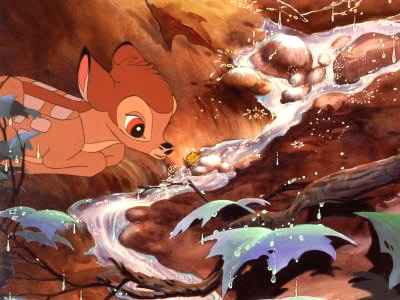 Bambi am Flusslauf