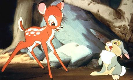 Bambi und Klopfer lachen