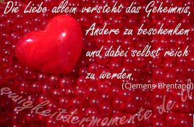 Die Liebe allein versteht das...