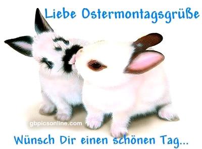 Liebe Ostermontagsgrüße! Wünsch Dir...