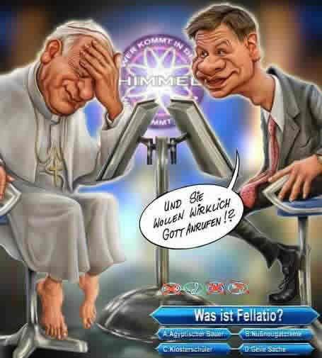 """Der Papst bei """"Wer wird..."""