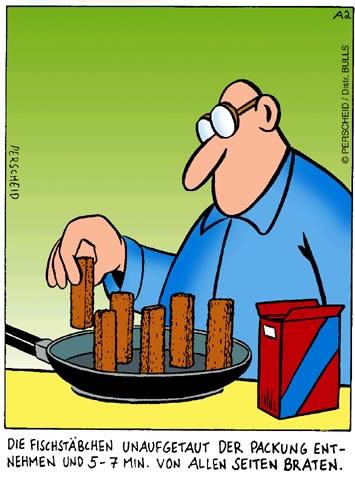 Wenn man die Kochanleitung zu...