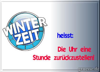 Winterzeit heißt: Die...