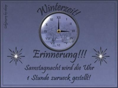Winterzeit! Erinnerung!!!...