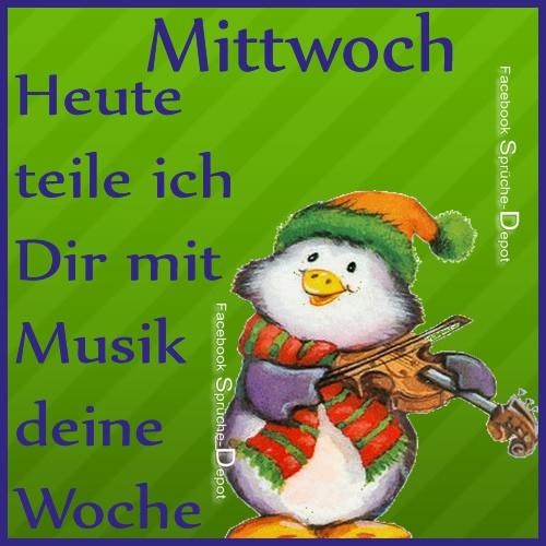 Mittwoch. Heute teile ich Dir mit Musik...