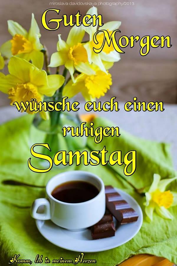 Guten Morgen. Wünsche euch einen ruhigen Samstag.