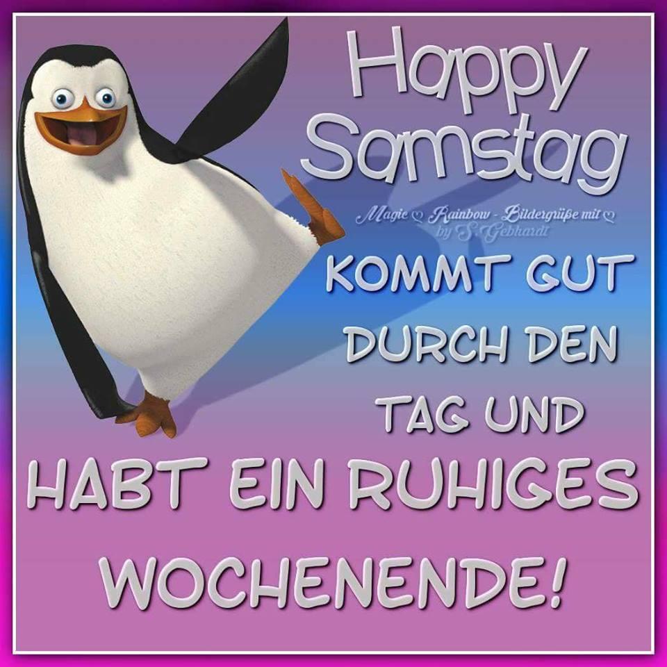 Happy Samstag. Kommt gut durch den Tag und habt ein ruhiges Wochenende!