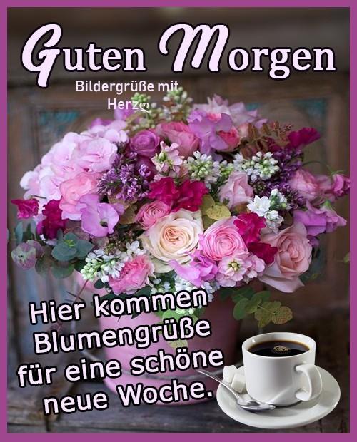 Guten Morgen. Hier kommen Blumengrüße...